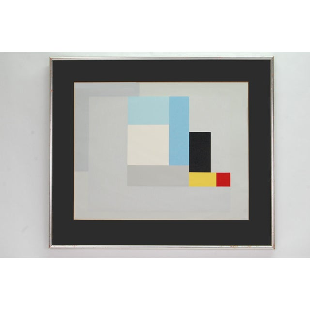 """Abstract Modernist Lithograph of Ben Nicholson's """"June 1937"""" For Sale - Image 3 of 4"""