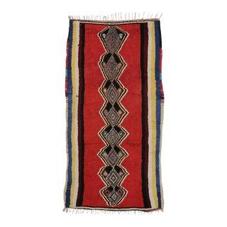 Vintage Berber Moroccan Red Rug with Modern Tribal Design For Sale