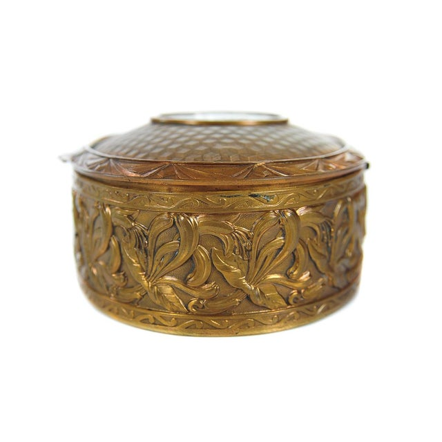 """19th C. Bronze & Enamel 5"""" Oval Jewelry Box For Sale In Los Angeles - Image 6 of 9"""
