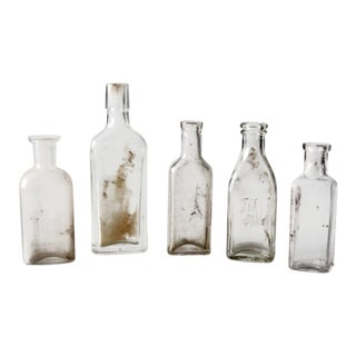 Antique Apothecary Bottles - Set of 5 For Sale