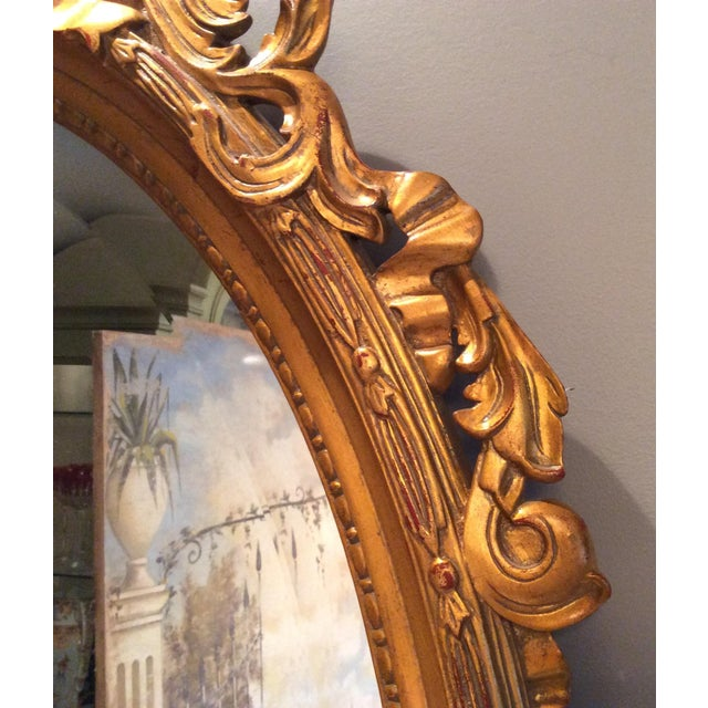 Ethan Allen Gold Bow Mirror - Image 4 of 10