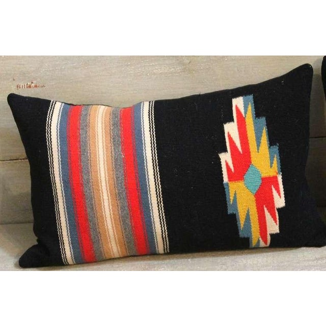 1930s Pair of Rio Grande Vallero Woven Pillows For Sale - Image 5 of 5
