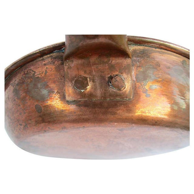 European Copper Saute Pan For Sale - Image 4 of 6