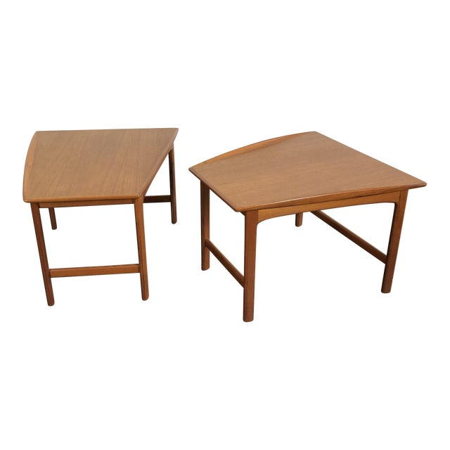 1960's Teak Frisco Designed by Folke Ohlsson Tables - a Pair For Sale