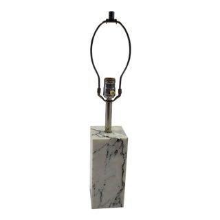1970s Sonneman Marble Plinth Table Lamp for Kovacs For Sale