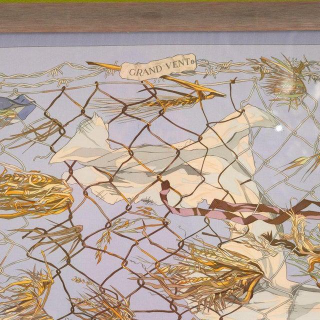 """Hermès 1960s """"Grand Vent"""" Framed Hermes Scarf For Sale - Image 4 of 7"""