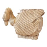 Image of Vintage Wicker Swan Table/Stool For Sale