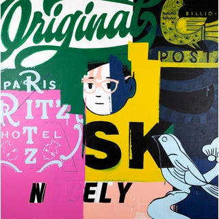 Ask Nicely Graffiti Painting by Ron Giusti For Sale