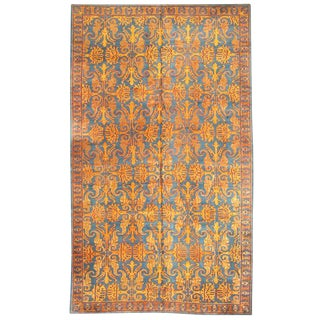 Rare Antique Oversize 19th Century Tibetan Carpet For Sale