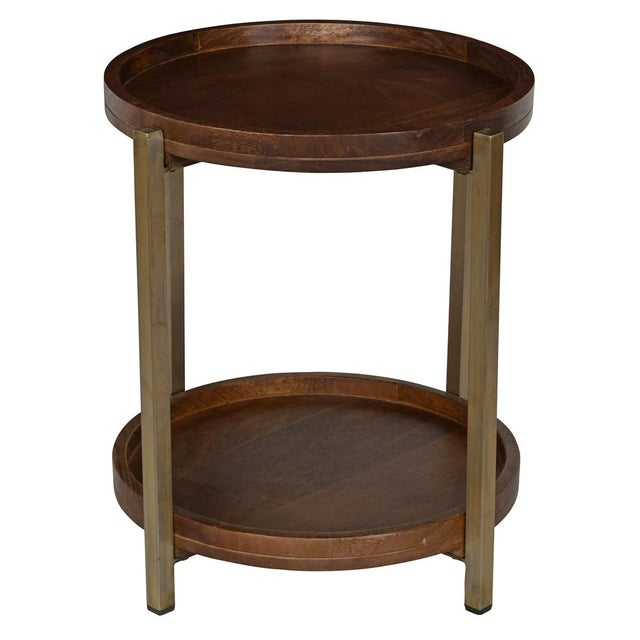 Americana Classic Home Baxter Side Table For Sale - Image 3 of 5