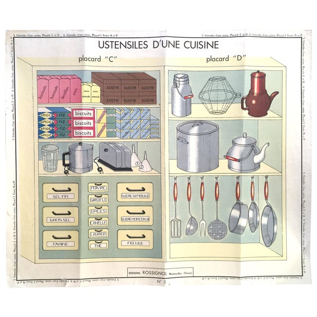 French Vintage Kitchen Cupboard School Poster - Image 1 of 8