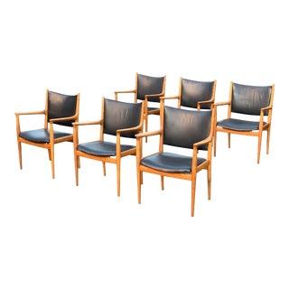 Hans Wegner Armchair JH713 Conference Lounge Chair Johannes Hansen Denmark, 1957 For Sale