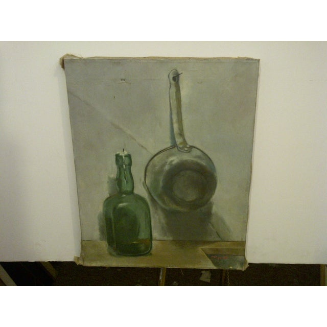 """Rustic """"The Candle"""" Original Painting by Frederick McDuff For Sale - Image 3 of 8"""