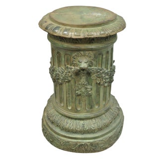 Vintage Neoclassical Bronze Fluted Column For Sale