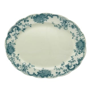 Antique Bishop and Stonier Pottery Platter in Melville Pattern For Sale