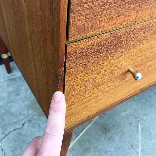 Newly Refinished 8 Drawer Mahogany Dresser by Paul McCobb for Calvin For Sale - Image 9 of 12