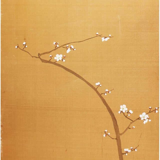 1960s Japanese Large Gold Silk Panels - Set of 2 For Sale In Dallas - Image 6 of 9