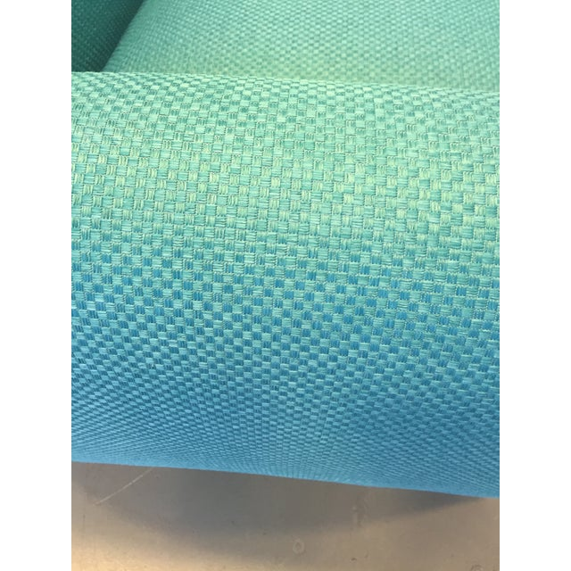 Turquoise Club Chairs - A Pair - Image 9 of 9