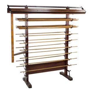 Early 20th Century Antique Wankraft Oil Cloth Display Rack For Sale