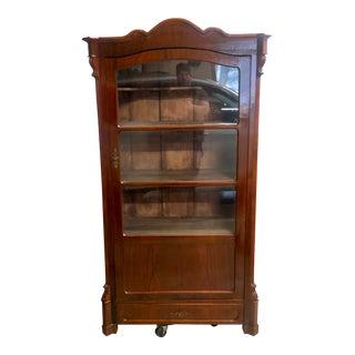 1800s Victorian Mahogany Bookcase For Sale