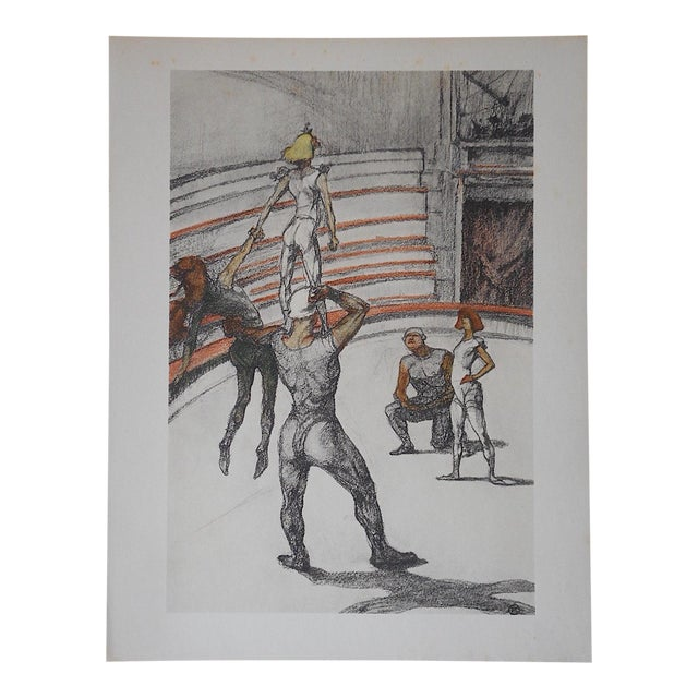 Vintage Toulouse Lautrec Lithograph-The Circus - Image 1 of 5