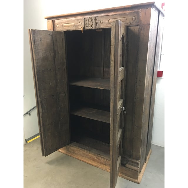 Handmade Antique Wooden Armoire - Image 4 of 9