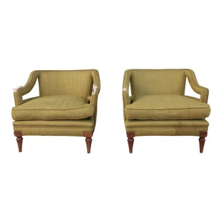 1960s Vintage Hollywood Regency Armchairs - A Pair For Sale