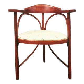 1900s Art Nouveau Thonet Three-Legged Model 81 Beech Side Chair For Sale