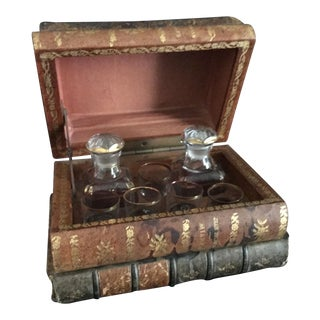 French Book Form Decanter Set - 8 Pc. Set For Sale
