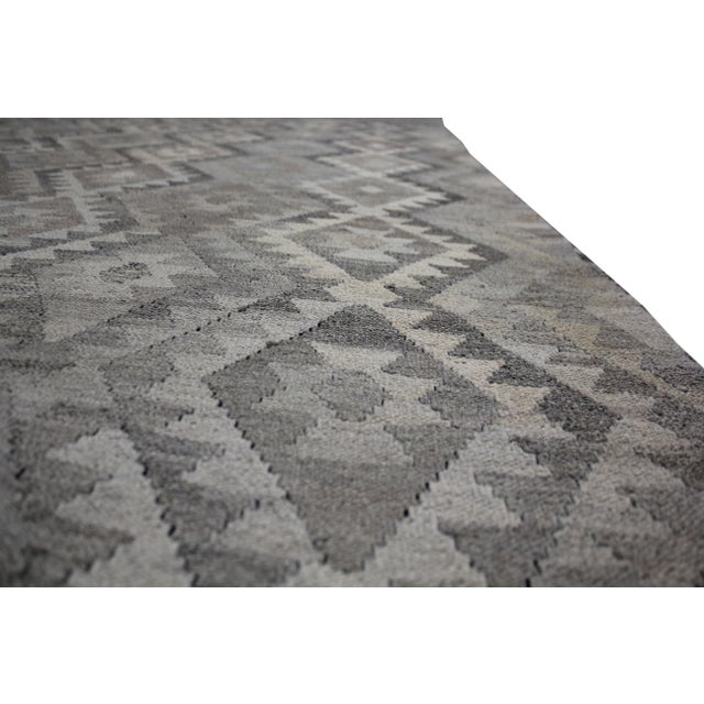 """Hand-Knotted Modern Kilim by Aara Rugs - 9'7"""" x 7'1"""" For Sale - Image 5 of 6"""