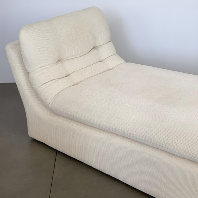 Modernist Fully Upholstered Chaise Lounge by Preview For Sale - Image 11 of 13