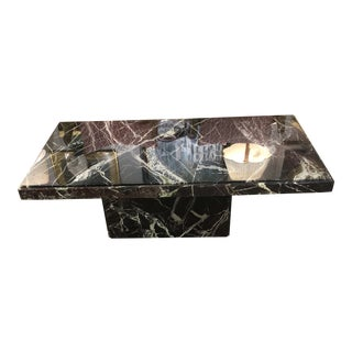 Vintage 1980's Italian Marble Coffee Table For Sale