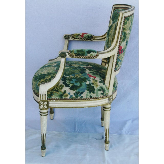 Scalamandre Marly Velvet Tapestry Fabric Armchair - Image 11 of 11