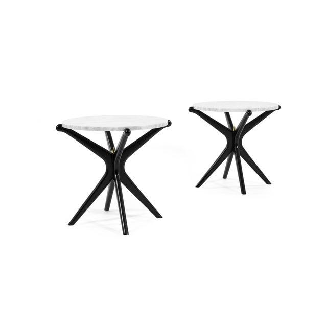 Mid-Century Modern Ebonized Gazelle Side Table For Sale - Image 3 of 8