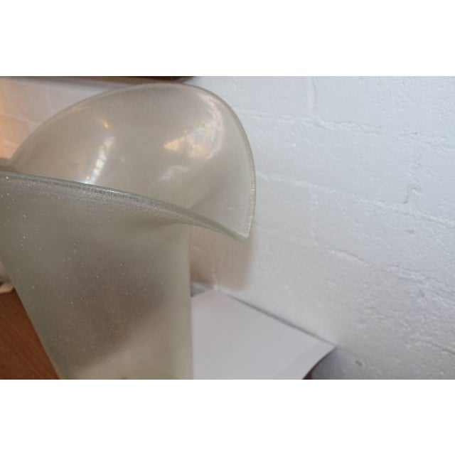 Large Flared Handblown Glass Vase With a Corroso or Scale Finish For Sale - Image 4 of 9
