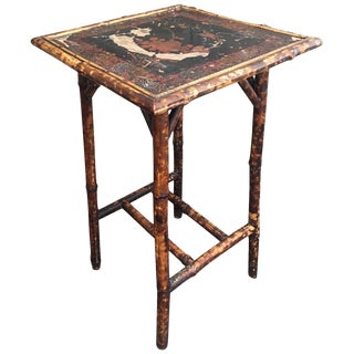Antique English Japanned Bamboo Table