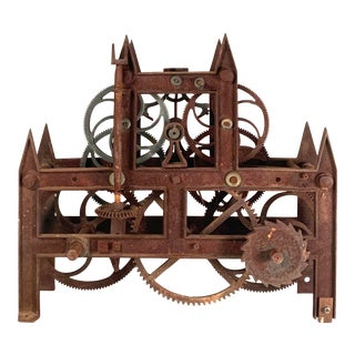 19th Century Large Iron Clockworks For Sale