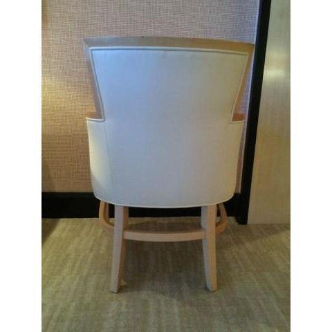Helen Art Deco Cream Vinyl Armchairs - Pair - Image 4 of 5