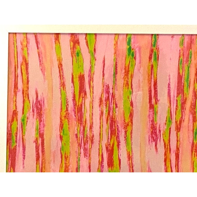 """2010s Abstract Pink Green """"Enlightened Terrain"""" Artist's Print by Suga Lane For Sale - Image 5 of 13"""