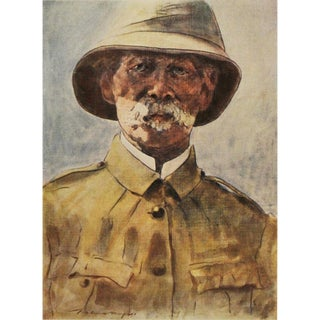 1901 Safari Style Original Portrait of Lord Roberts by Menpes