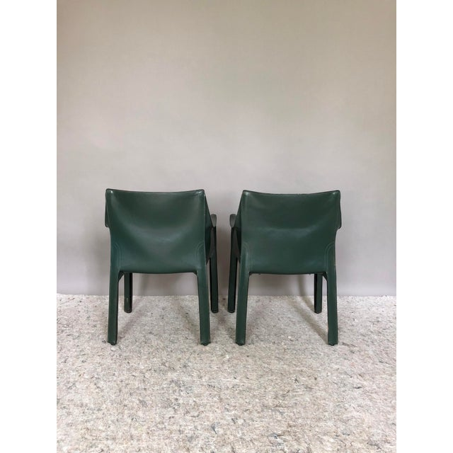 1980s Mario Bellini for Cassina Cab 413 Chairs - a Pair For Sale - Image 5 of 8