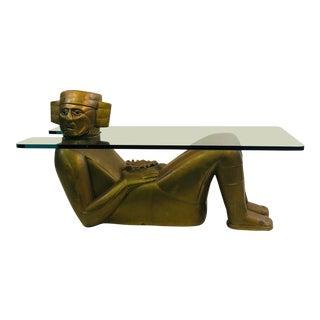 Monumental Aztec Sun God Coffee Table For Sale