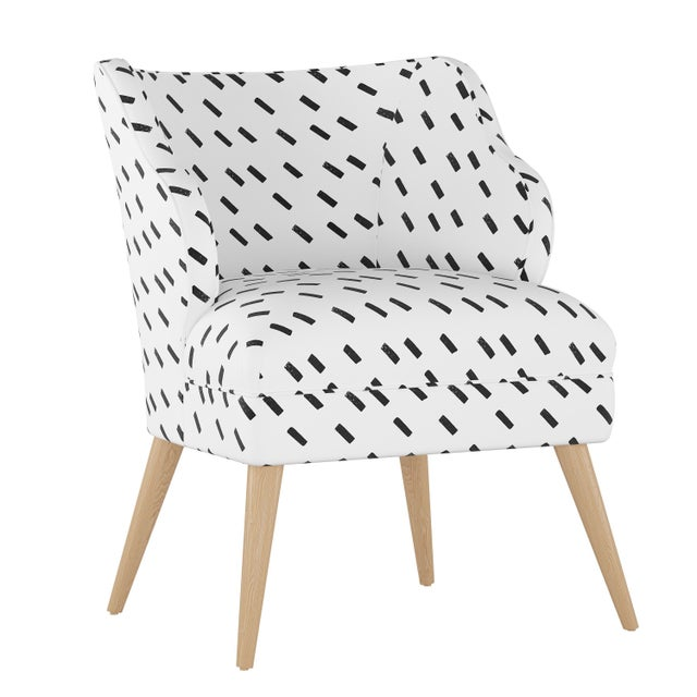 Modern Chair in Charcoal Dash White Oga For Sale In Chicago - Image 6 of 7