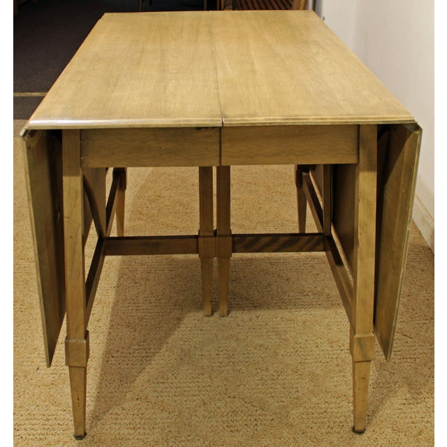 Heywood-Wakefield Mid-Century Modern Heywood Wakefield Cadence Sable Drop Leaf Dining Table For Sale - Image 4 of 11
