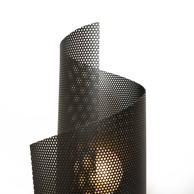 Not Yet Made - Made To Order Spun Tulle Wall Sconce in Brass + Black Enamel Mesh by Blueprint Lighting, 2019 For Sale - Image 5 of 6