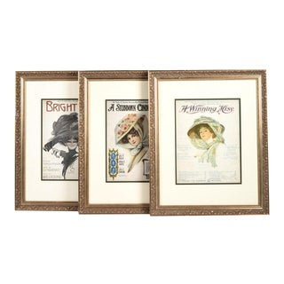 Framed Princess Theater Playbill Prints - Set of 3 For Sale