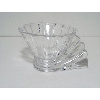 Rosenthal Studio Linie Crystal Votive Tealight Candle Holder W Fan Shaped Handle Preview