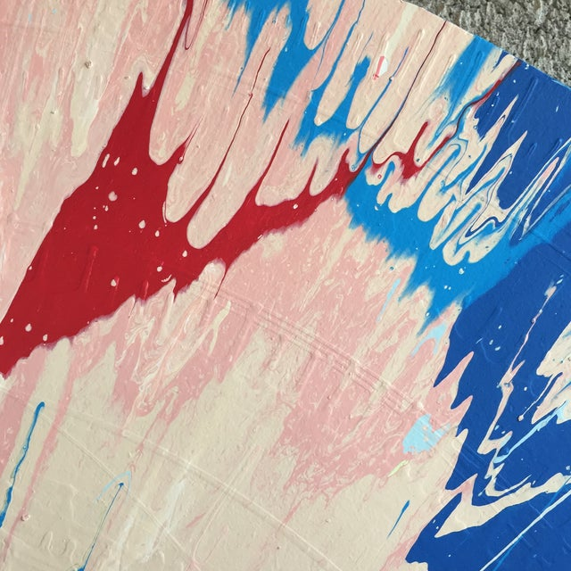 Paint Abstract Color Field - Pink/Green/Blue For Sale - Image 7 of 9