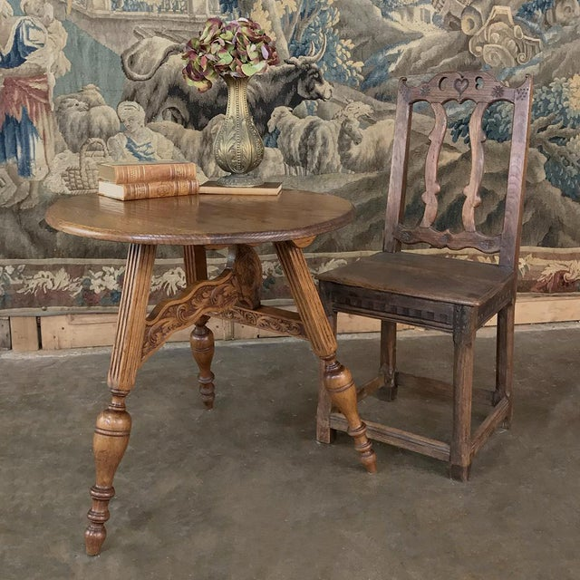 Renaissance Revival 19th Century Round Tripod Folding End Table For Sale - Image 3 of 13