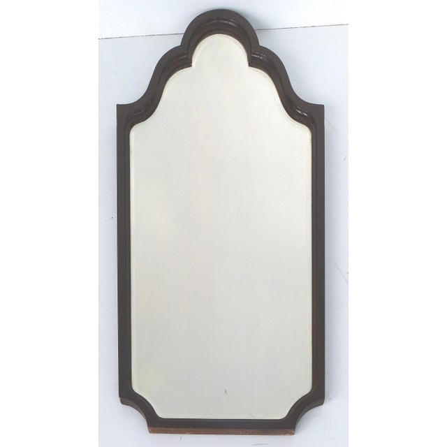 Mahogany Curved Wood Beveled Mirror c1920 - Image 2 of 7